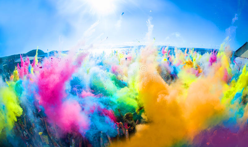 Holly Colors Festival iv Vladivostok royalty free stock images