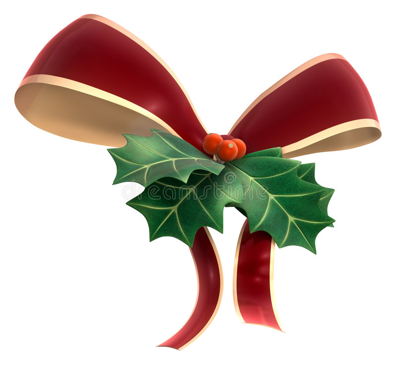 Download Holly Decor stock image. Image of decoration, holly, ribbon - 4243889