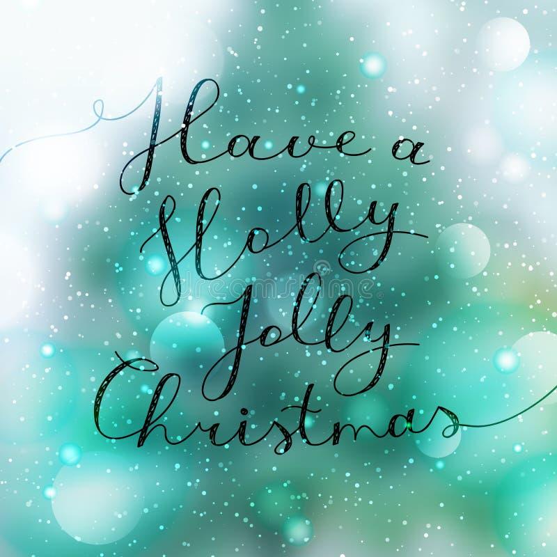 Holly jolly christmas royalty free illustration