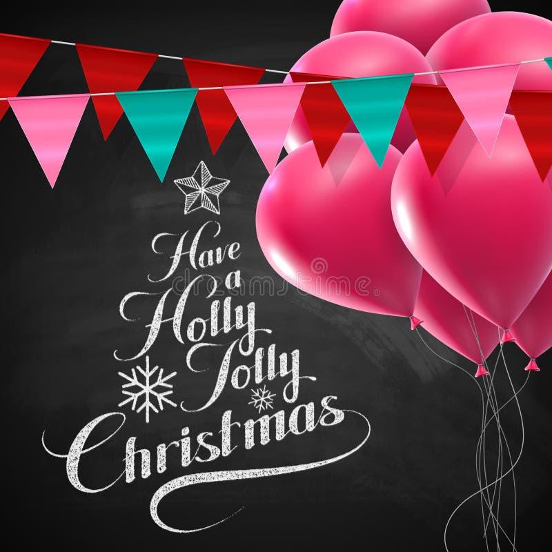 Holly Jolly Merry Christmas ilustração stock