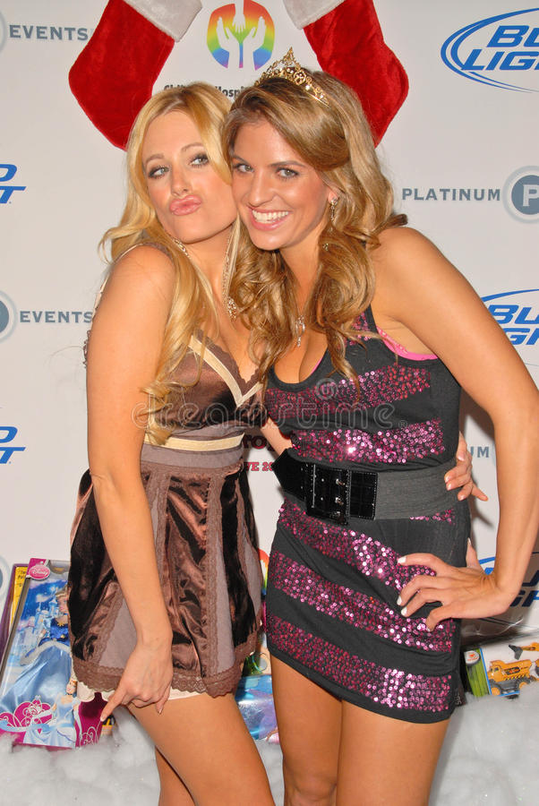 Holly King,Bridgetta Tomarchio. Holly King and Bridgetta Tomarchio at Bridgetta Tomarchio B-Day Bash and Babes in Toyland Toy Drive, Lucky Strike, Hollywood, CA royalty free stock photos