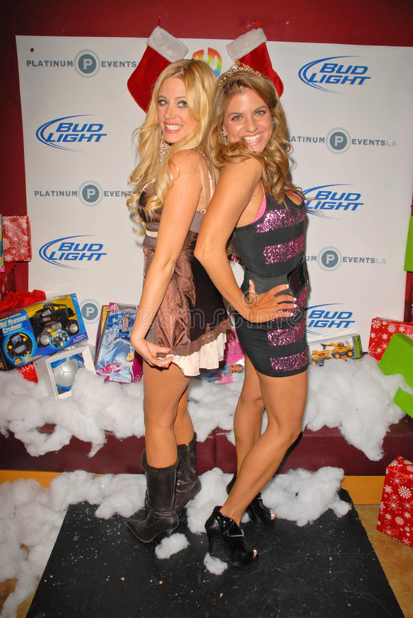 Holly King,Bridgetta Tomarchio. Holly King and Bridgetta Tomarchio at Bridgetta Tomarchio B-Day Bash and Babes in Toyland Toy Drive, Lucky Strike, Hollywood, CA royalty free stock images