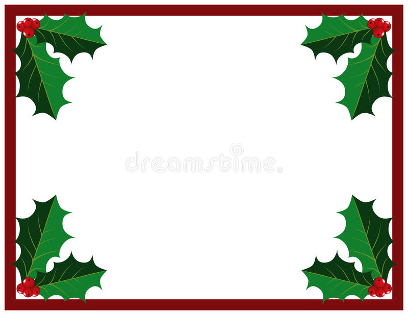 Download Holly Leaves and Berries stock vector. Image of space - 11393573