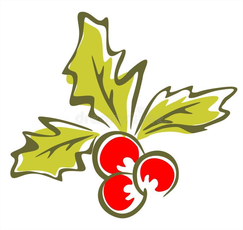 holly ozdobny berry ilustracja wektor