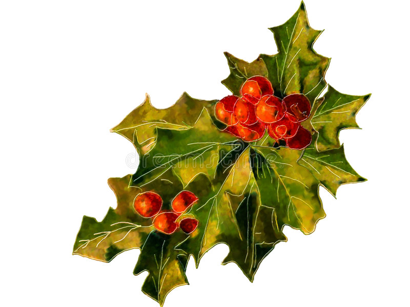 Download Holly Retro Illustration Isolated Stock Illustration - Illustration of holly, festive: 7597276
