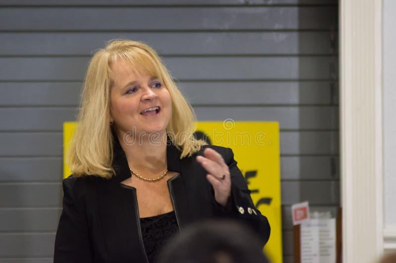 Holly Robichaud Laughs fotografía de archivo libre de regalías