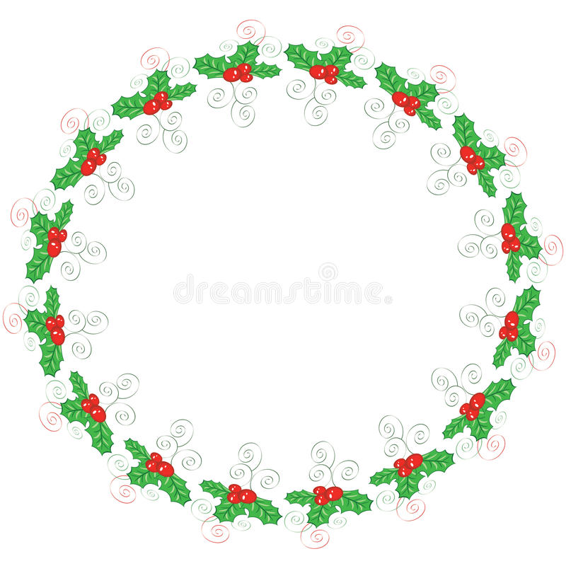 Download Holly round frame stock vector. Image of holly, berry - 22271507