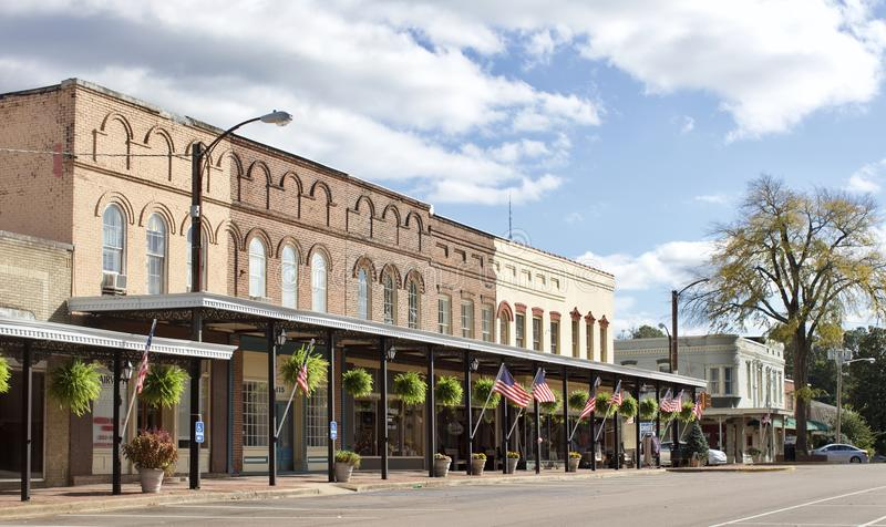 Holly Springs Mississippi Downtown stockfotos