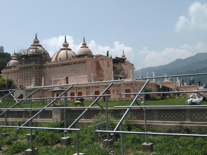 Holly tample in india. Beautiful view of tample stock photo