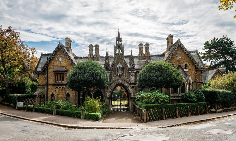 The Holly Village, in Highgate, north London. stock photos