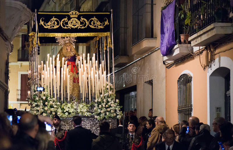 Holly week in Badajoz royalty free stock images