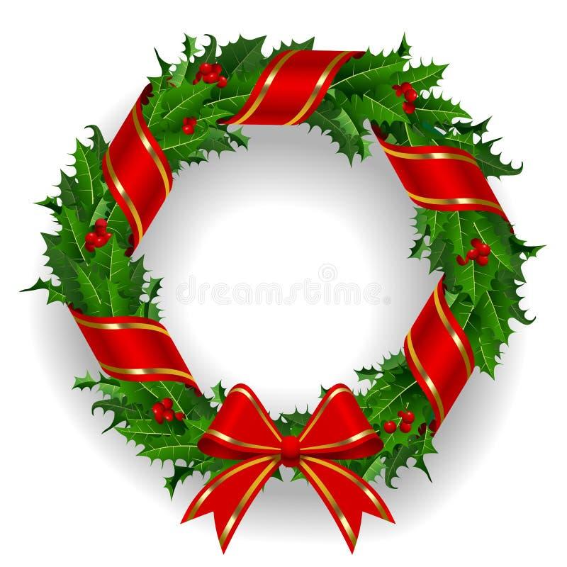 Holly Wreath stock abbildung