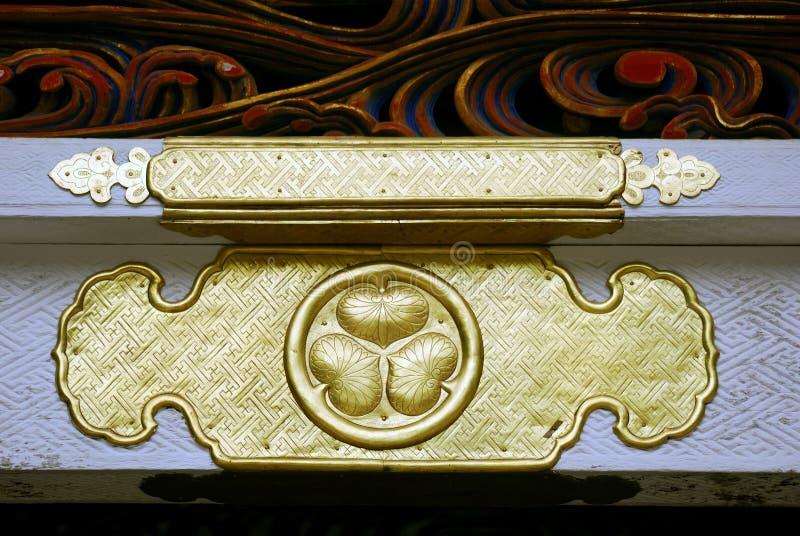 Hollyhock, el símbolo de los shogunes de Tokugawa, Nikko, imagen de archivo
