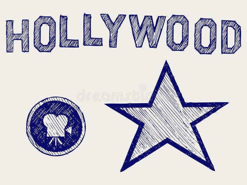 Hollywood ilustracja wektor