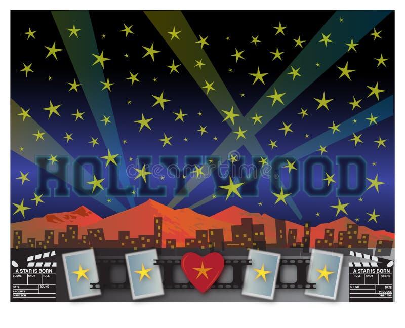 hollywood vector illustratie