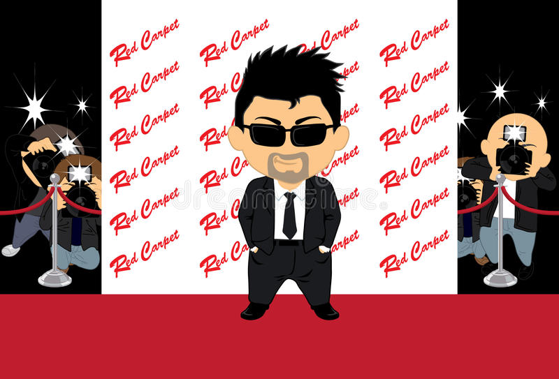 Hollywood Actor 2 vector illustration