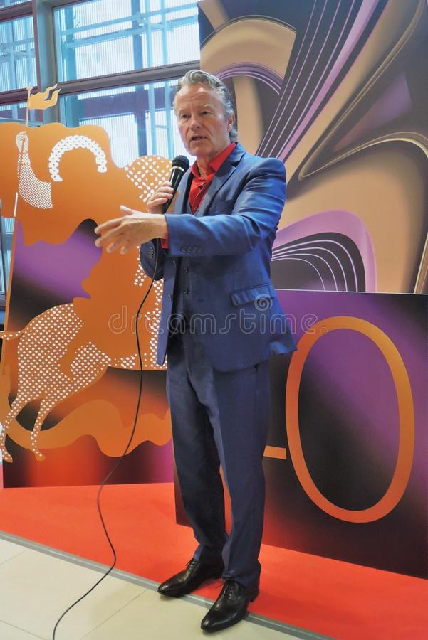 Hollywood actor John Savage at Moscow International Film Festival. Hollywood actor John Savage at 40th Moscow International Film Festival. John Savage is a royalty free stock image