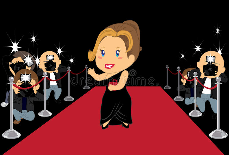 Hollywood Actress 2 stock illustration
