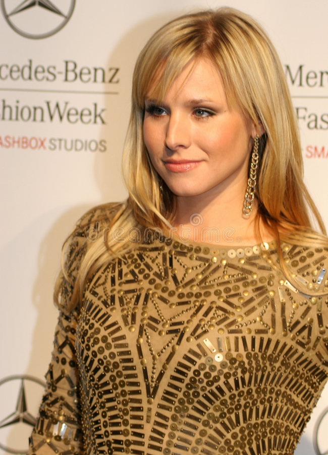 Hollywood Actress Kristen Bell on Red Carpet. Hollywood actress Kristen Bell in Los Angeles, California, at Mercedes-Benz Fashion Week stock photography