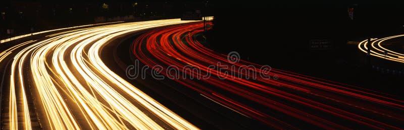 Hollywood-Autobahn nachts lizenzfreie stockbilder