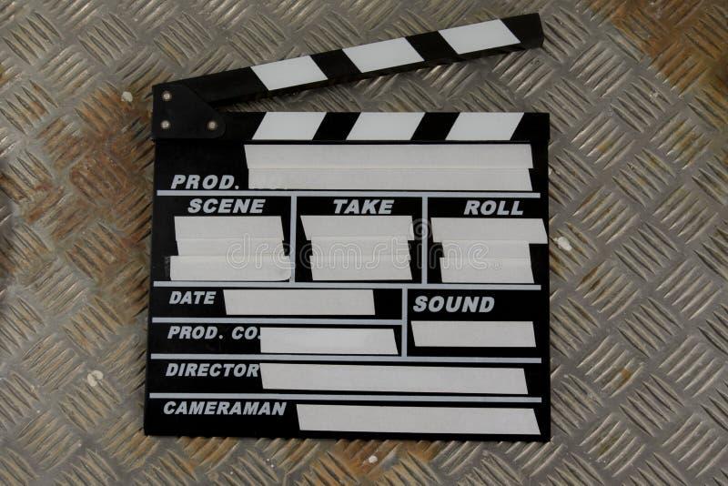 Hollywood Blank Film Clapper Slate. Wooden Hollywood Film Clapper Slate stock photography