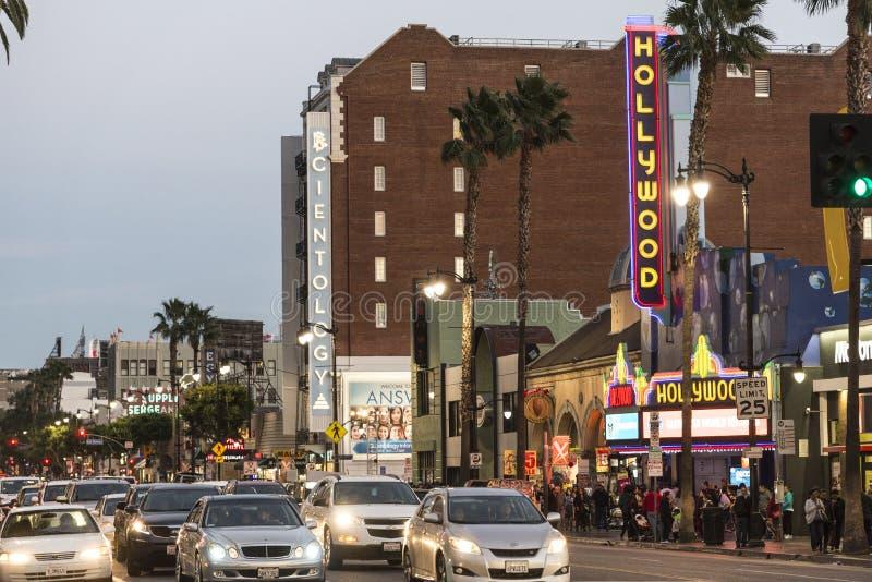 Hollywood Blvd στοκ φωτογραφία