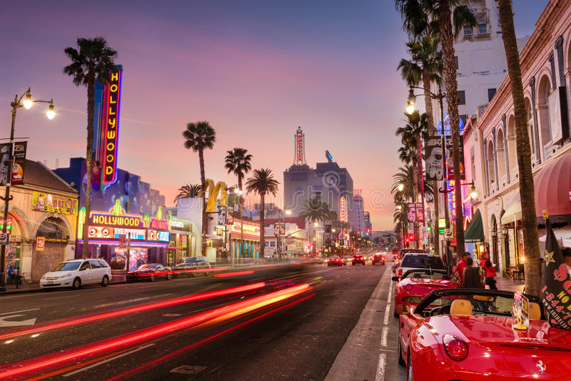 Hollywood Blvd Los Angeles royalty-vrije stock afbeelding