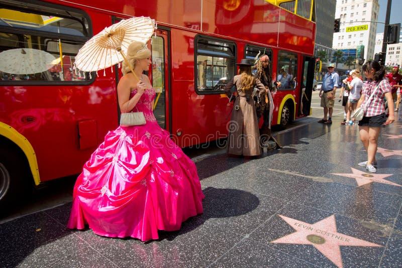 Hollywood boulevard royaltyfri foto