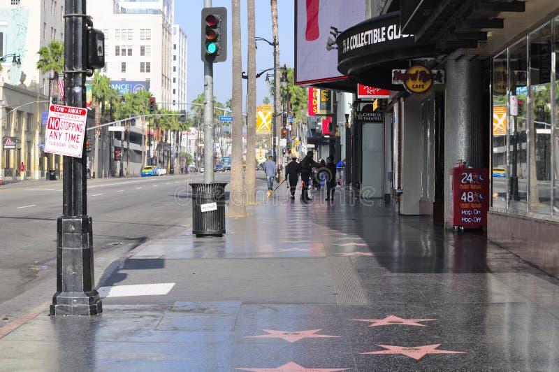 Hollywood Boulevard la Californie images libres de droits