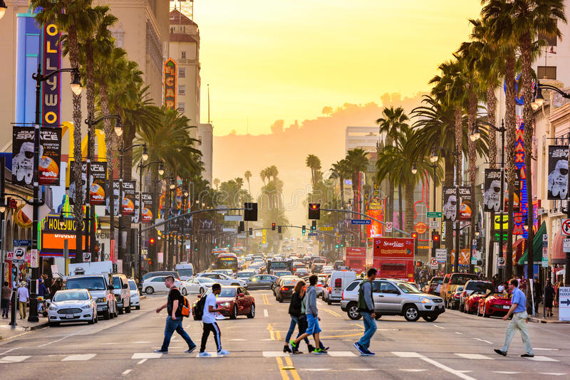 Hollywood bulwar fotografia royalty free