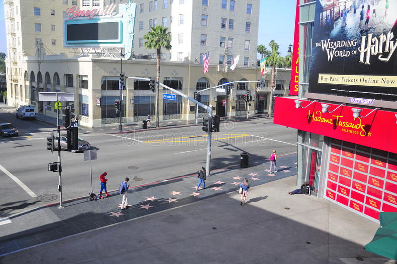 Hollywood bulwar Los Angeles zdjęcie stock