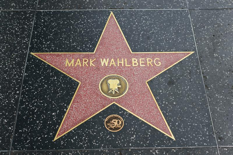 Mark Wahlberg star on the Hollywood Walk of Fame royalty free stock images