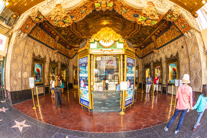 Entrance of El Capitan Theatre. HOLLYWOOD, CA- JUNE 26: entrance of El Capitan Theatre, June 26, 2012 in Hollywood,CA. In the 1940s, 1735 Vine was renamed The El royalty free stock photo