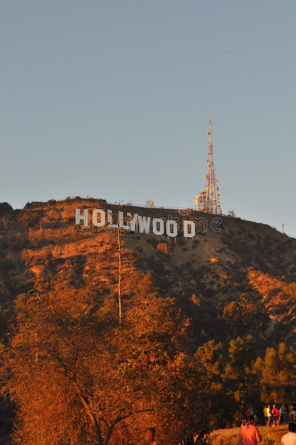 Hollywood. California usa america vacation trips and travelings west coast los angeles summer and september 2018 hollywood stars and movies hill hollywoodsign royalty free stock image
