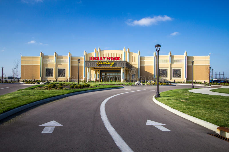 Hollywood Casino In Dayton. Dayton, Ohio, USA. April 23, 2016 - The exterior of the Hollywood Casino and raceway in Dayton, Ohio. The raceway offers simulcast stock image