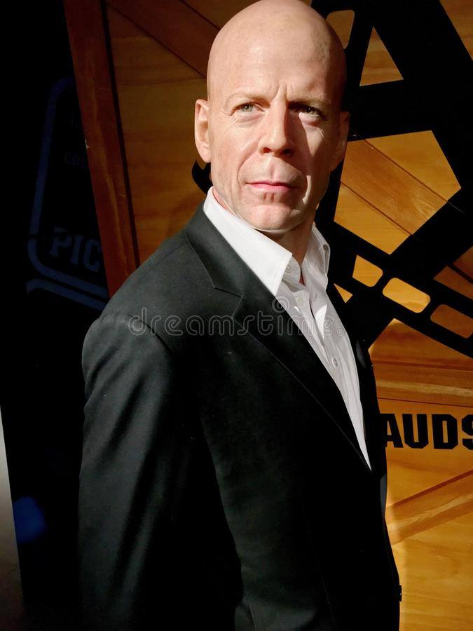 Hollywood diagram för Bruce Willis vax royaltyfria foton
