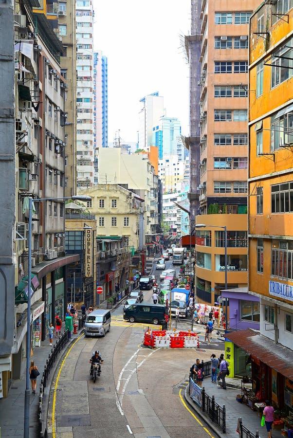Hollywood droga, centrala, Hong kong zdjęcia royalty free
