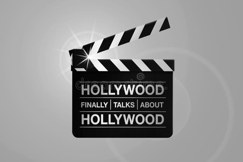 HOLLYWOOD, EUA, o 14 de outubro de 2017 - Hollywood começa a revelar a longa história do acosso sexual e o abuso no industria do  ilustração stock