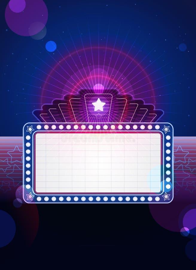Hollywood-Festzelt lizenzfreie abbildung