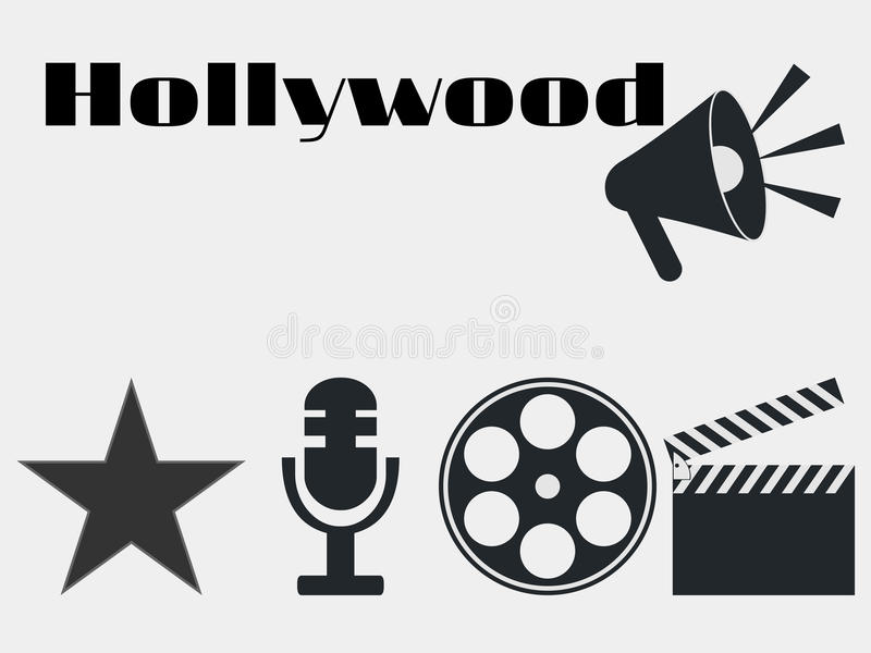 Hollywood film industry icons movie clapper microphone vector download hollywood film industry icons movie clapper microphone vector stock vector freerunsca Choice Image