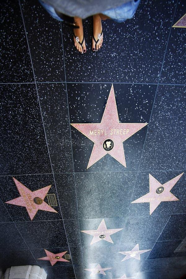Hollywood går arkivfoton
