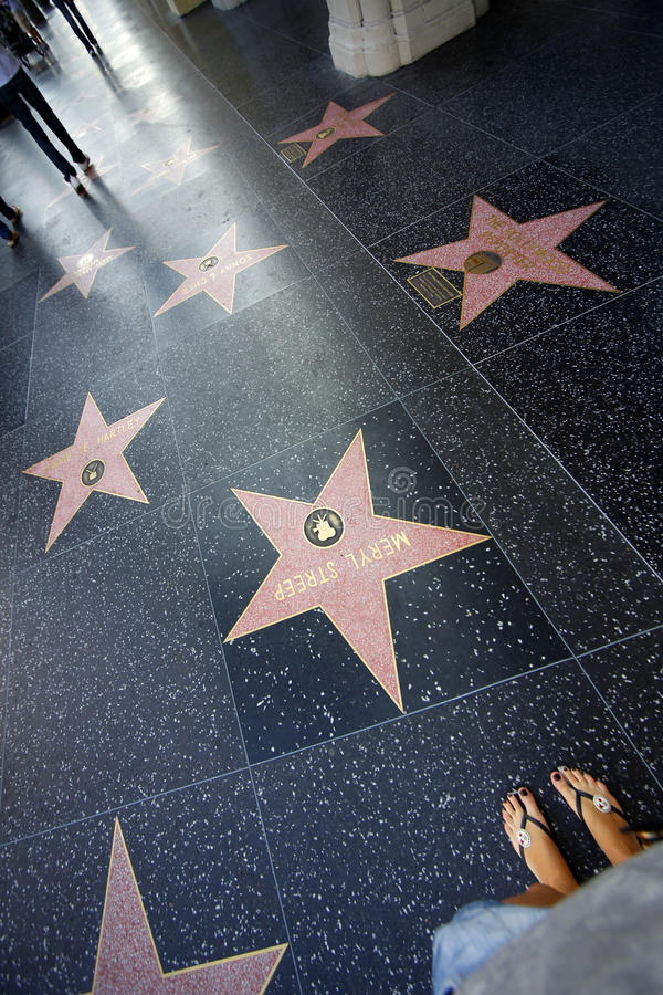 Hollywood går royaltyfria bilder