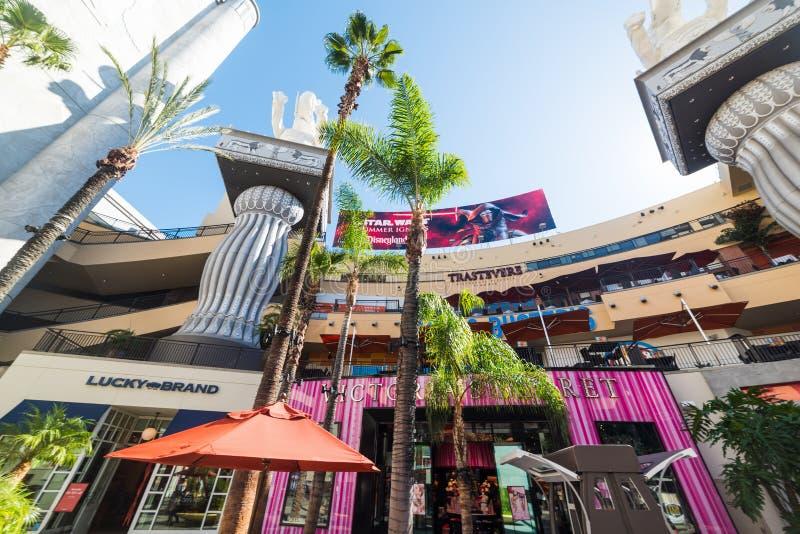 Hollywood & Górski centrum handlowe w Los Angeles, Kalifornia zdjęcia royalty free