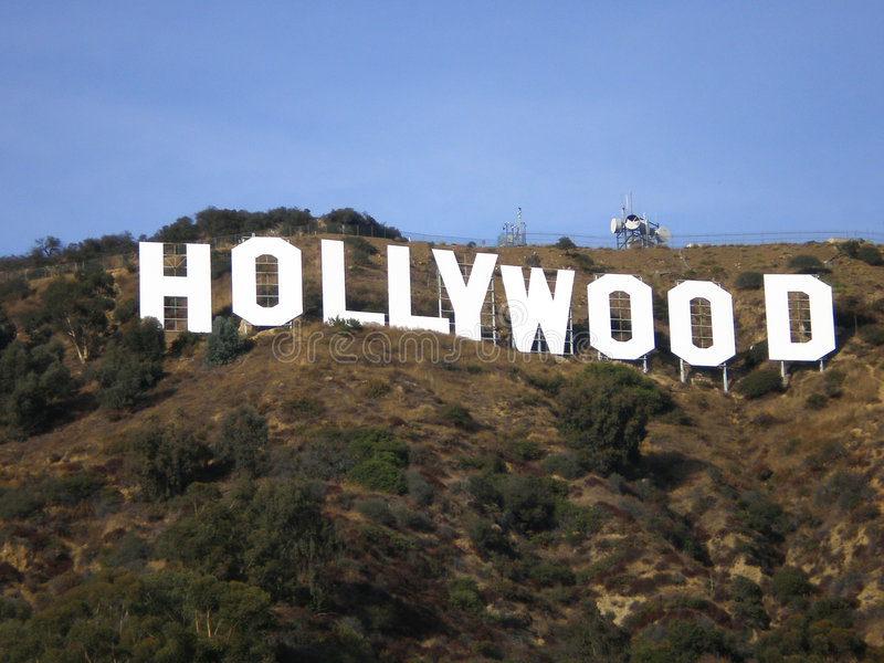 Hollywood Hill Sign stock photo