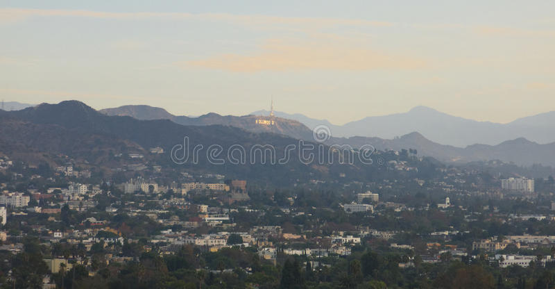 Hollywood Hills стоковое фото rf