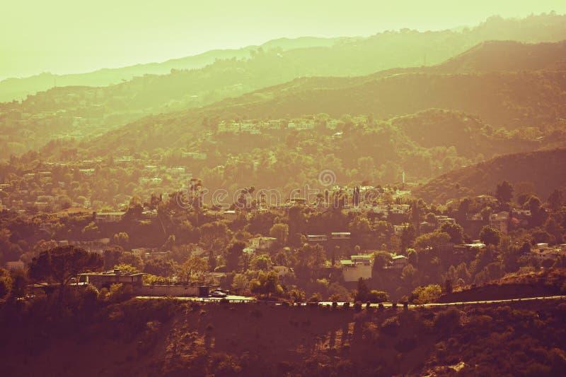 Hollywood Hills panorama fotografering för bildbyråer