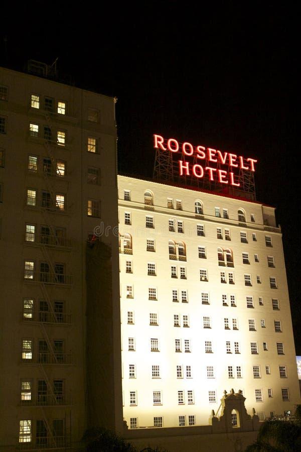 Hollywood Hotel Roosevelt fotografia stock