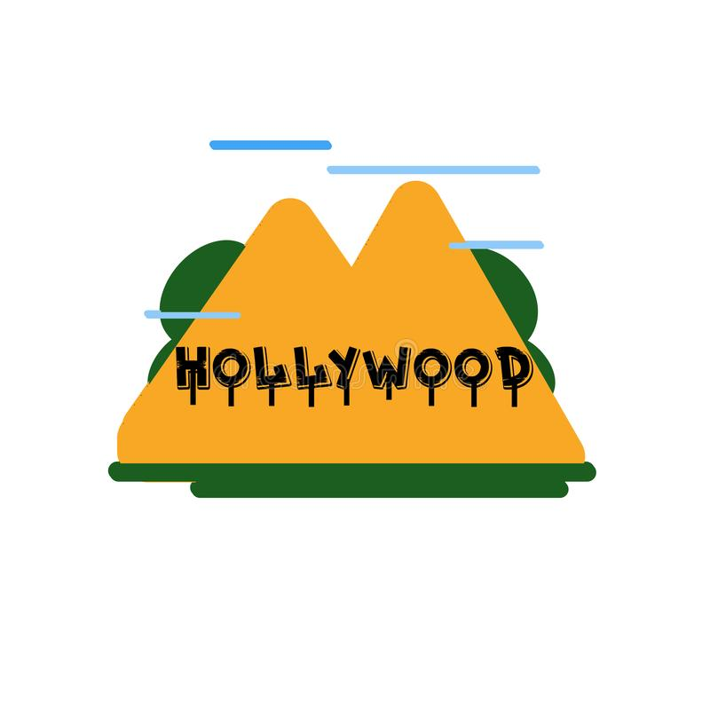 Hollywood icon vector sign and symbol isolated on white background, Hollywood logo concept vector illustration