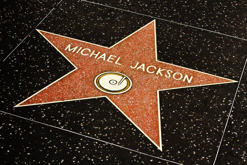 hollywood Jackson Michael gwiazdy spacer obraz royalty free
