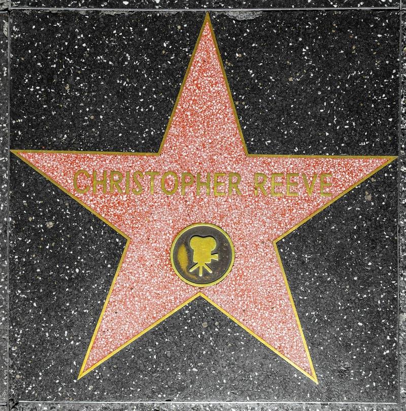 De ster van Christopher Reeve van de acteur op Gang Hollywood van Bekendheid royalty-vrije stock fotografie